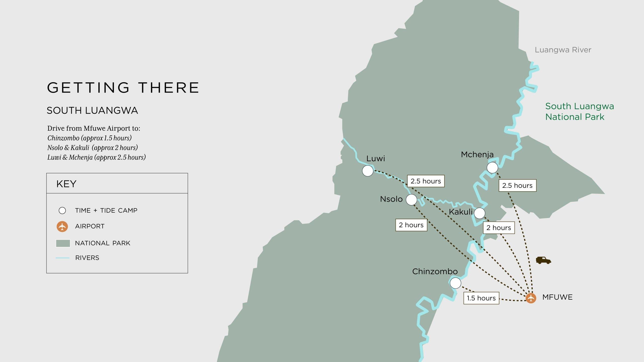 South Luangwa map